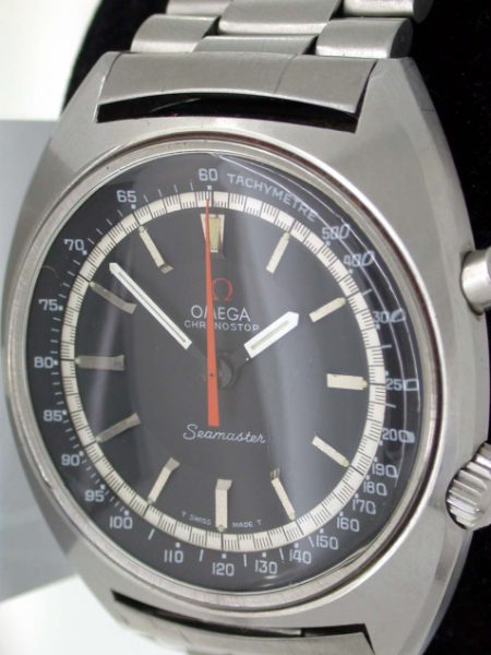 Beautiful Big Chronostop Seamaster 120M with Jet Black Dial