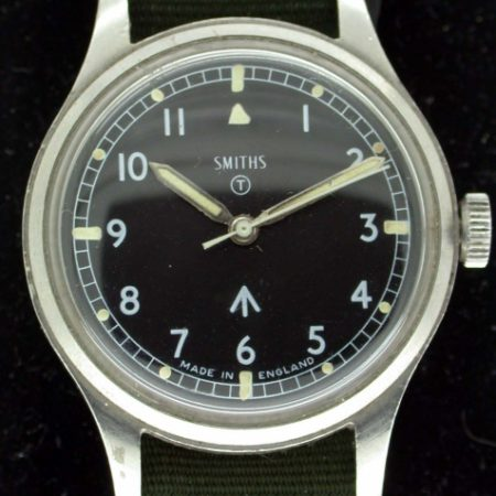 British Military Issued Wristwatch From 1969 with Broadarrow and Military Markings in Superb Condition. Hacking Seconds