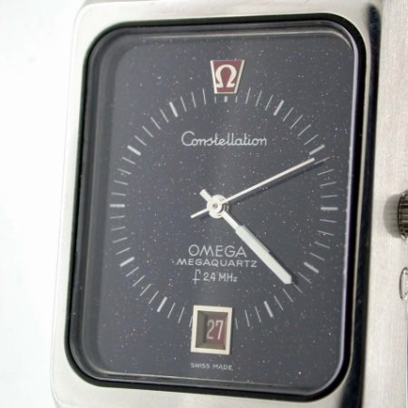 Constellation 2.4Mhz Mega-Quartz with NOS Stardust Dial and Full Omega Service Papers and Still Under Two Year Omega Guarantee