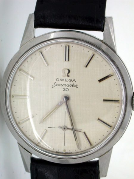 New Old Stock Condition Seamaster 30 with Rare Linen Pattern Dial