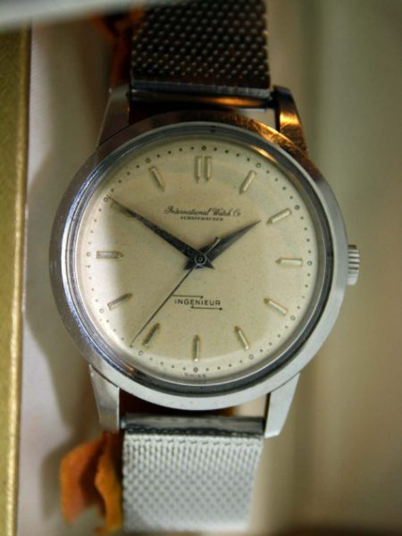 Rare 1959 Ingenieur Ref. 666 with IWC Papers Original Dial and Special Anti-Magnetic Inner Iron Cover All Stainless Steel Case Comes with IWC Box and IWC Bracelet