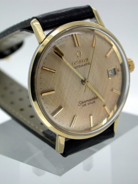 Seamaster De Ville Automatic with Rare Linen-Pattern Dial. Exceptional Example
