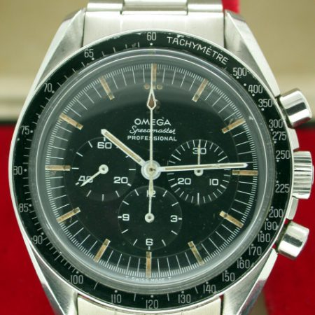"Speedmaster Professional 1967 ""Pre-Moon"" Cal. 321  Ref. SP-145.012-67 The Watch Selected by NASA for the Apollo 11 Moon Landings. Original Applied Logo Stepped Dial. Speedmaster 1171 Bracelet"