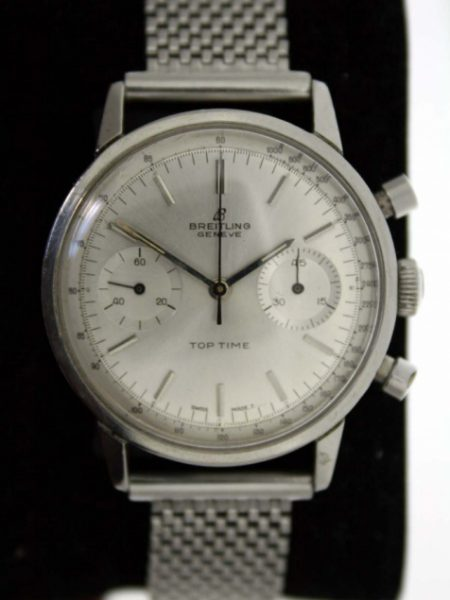 Vintage 1960's Top Time Chronograph in Mint Condition with All Silver Dial