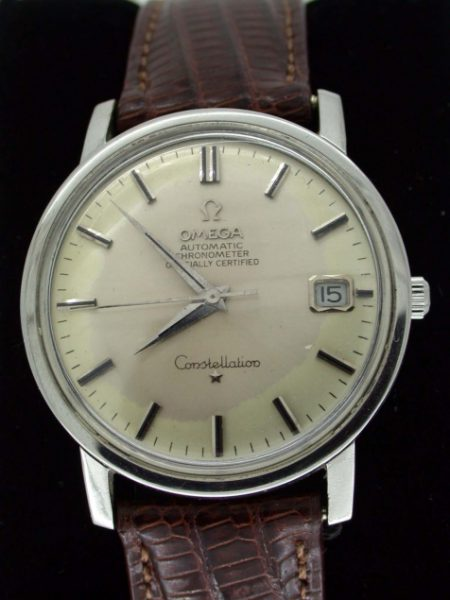 Vintage 1966 Automatic Chronometer Officially Certified Constellation Calendar with Original Omega Buckle