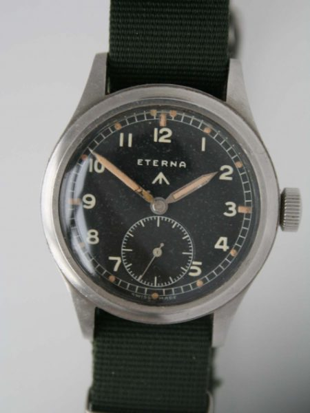 "c1943 Rare ""Dirty Dozen"" WW2 British Army Officers Wristwatch with WWW Broadarrow Military Issue Markings on Caseback Fixed Bar Military Lugs and Orignal Military Crown Very Rare Orignal Radium Dial"