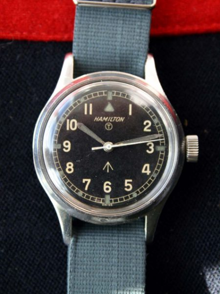 c1960 Mark XI RAF Pilots Watch with Rare Orignal Radium Dial Early Non-Hacking Version with Military Issue Markings 6B-9101000 on the Case-Back and Fixed Bar Military Lugs